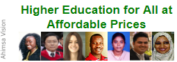 Higher Education for all at affordable prices